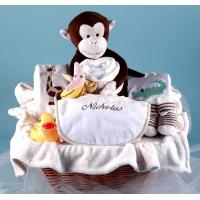 Wholesale Personalized Baby Gifts Monkey & Pals Personalized Baby Gift Basket from china suppliers
