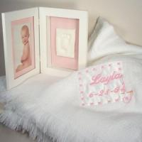 Wholesale Personalized Baby Gifts Baby Blanket & Keepsake Frame Personalized Baby Gift-Girl from china suppliers