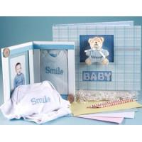 Wholesale Unique Baby Gifts Keepsake Album & Photo Frame Baby Boy Gift Set from china suppliers