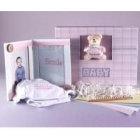 Wholesale Unique Baby Gifts Keepsake Photo Album & Picture Frame Baby Girl Gift Set from china suppliers