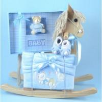 Wholesale Rocking Horse Gifts Rocking Horse & Keepsake Photo Album Baby Boy Gift from china suppliers