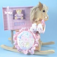 Wholesale Rocking Horse Gifts Rocking Horse & Keepsake Photo Album Baby Girl Gift from china suppliers