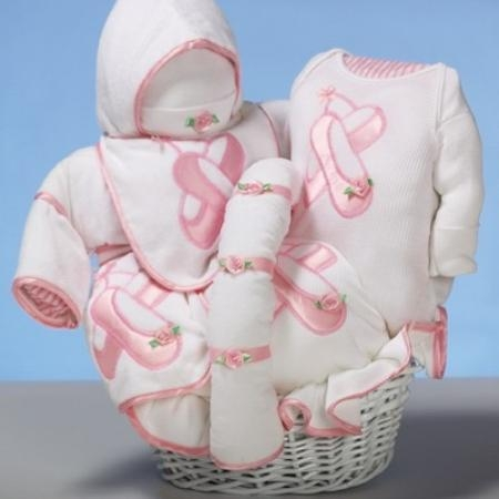 "Quality Baby Gift Baskets ""Ballet Slippers"" Baby Gift Basket for sale"