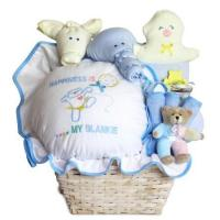 Wholesale Baby Gift Baskets Baby Gift Basket of Happiness for Baby Boy from china suppliers