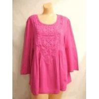 Wholesale Simply Noelle shirt Orchid pink top 3/4 Bell Sleeve Top w/Crochet size small medium from china suppliers