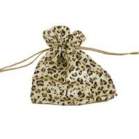 Wholesale gorgeous leopard print favour satin bag pouch from china suppliers