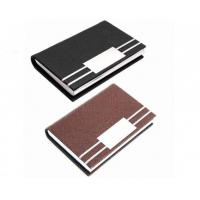 Wholesale Card Holder PU Leather ID Card Pocket Case Box Keeper from china suppliers