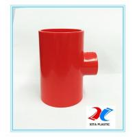 new red color- pvc reducing tee