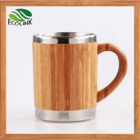 Wholesale Insulated Bamboo Coffee Tea Mug With Stainless Steel Inner from china suppliers