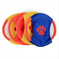 Custom Dog Training Flying Rope Frisbee Product No.:20171030161133