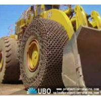 Tire protection chain for OTR tire used on wheel loader