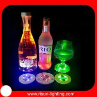 LED flashing coaster colorful round shape EVA flashing bottl